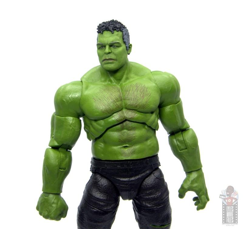 marvel legends smart hulk figure review - serious head sculpt