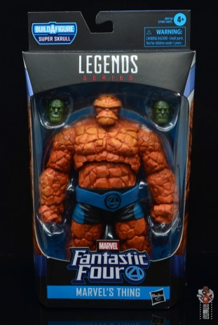 marvel legends the thing figure review - package front