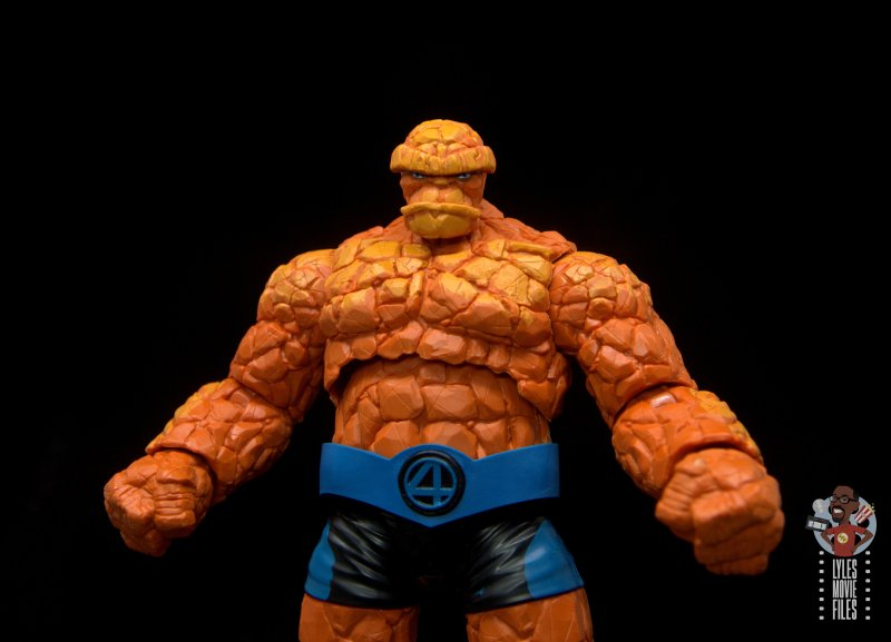 marvel legends the thing figure review - wide shot