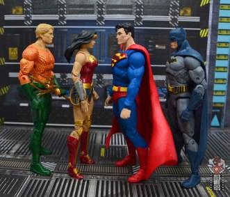 mcfarlane toys dc multiverse superman figure review - facing dc essentials aquaman, wonder woman and batman