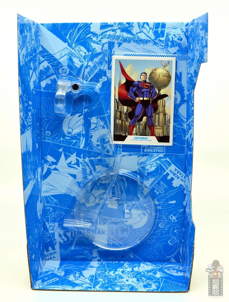 mcfarlane toys dc multiverse superman figure review - package insert