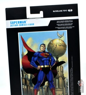 mcfarlane toys dc multiverse superman figure review - package rear top