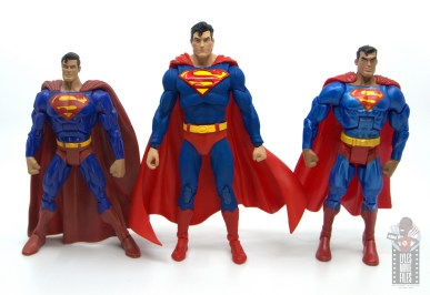 mcfarlane toys dc multiverse superman figure review - scale with dc classics superman and animated dc classics superman