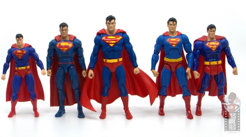 mcfarlane toys dc multiverse superman figure review - scale with dc icons, dc multiverse, dc essentials and dc classics version