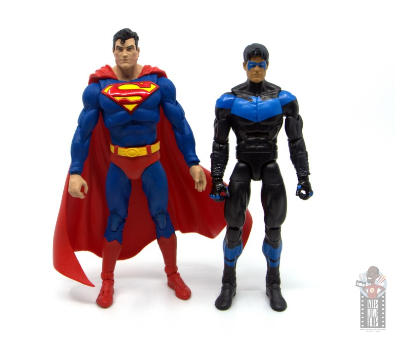 mcfarlane toys dc multiverse superman figure review - scale with dc multiverse nightwing