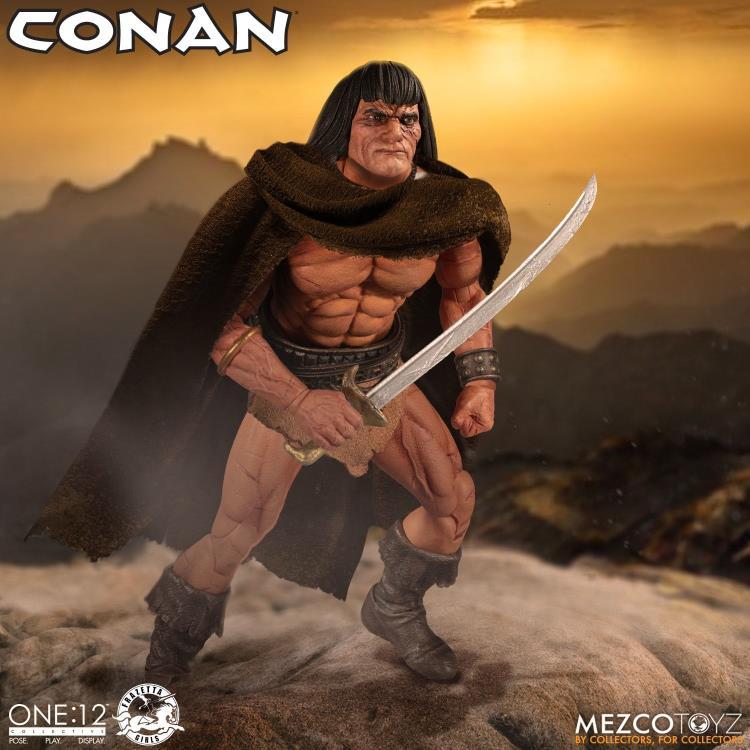 mezco toyz one 12 conan figure -with cloak
