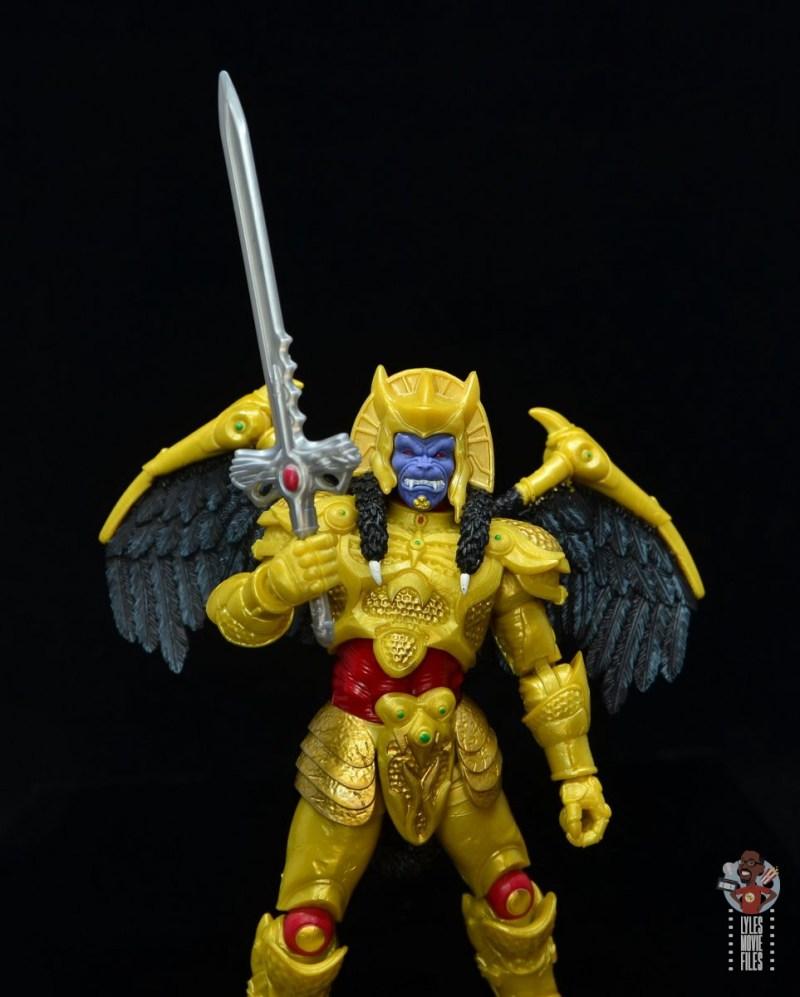 power rangers lightning collection goldar figure review - lifting sword