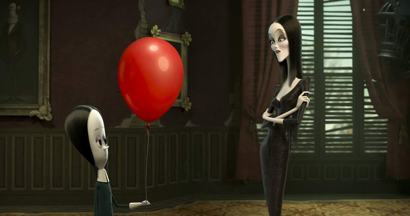 the addams family review - wednesday and morticia