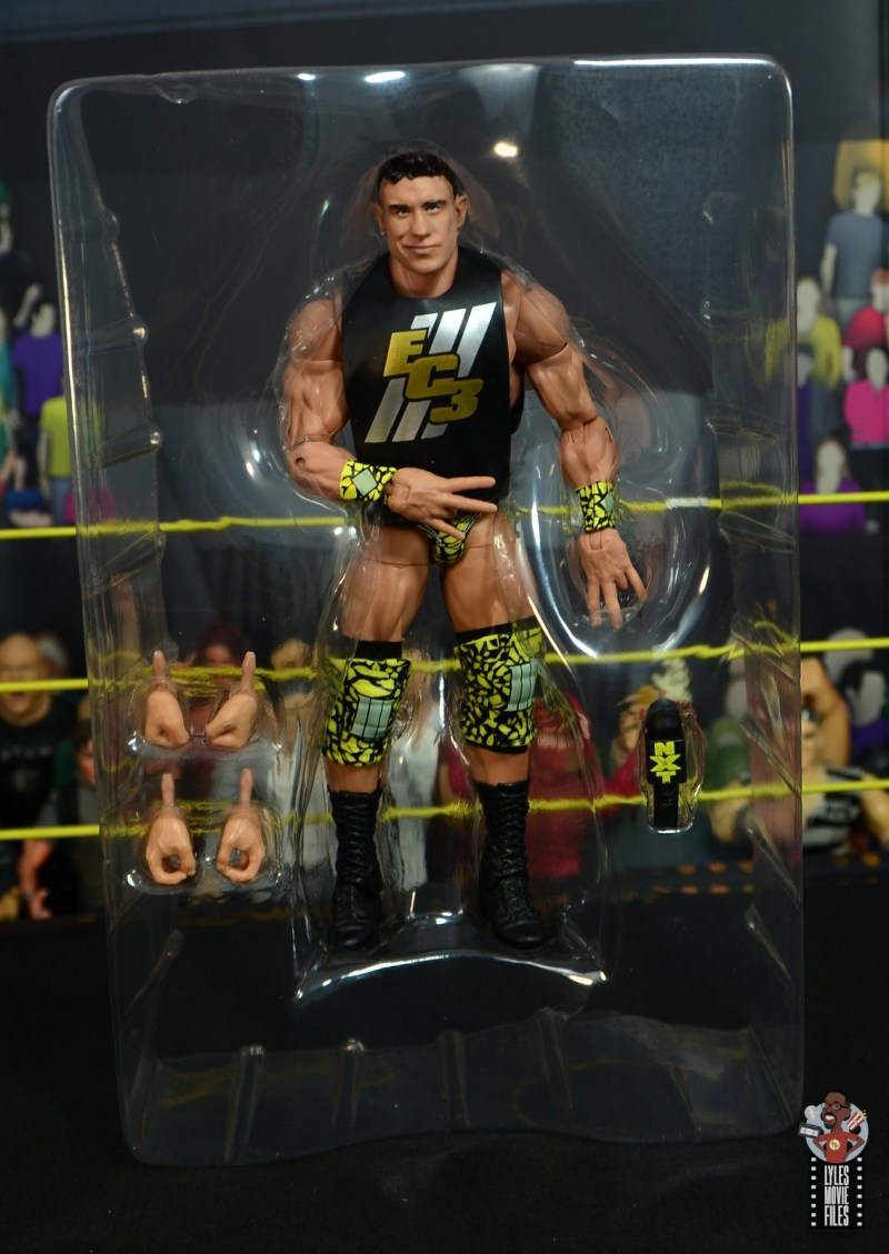 wwe elite 70 ec3 figure review - accessories in tray