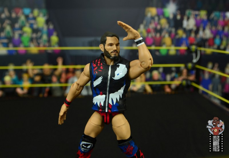 wwe elite 70 johnny gargano figure review - looking at the crowd