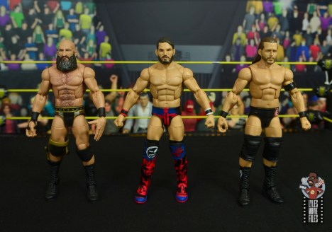 wwe elite 70 johnny gargano figure review -scale with ciampa and adam cole