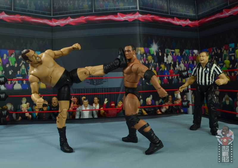 wwe elite 71 the big show figure review - big boot to the rock