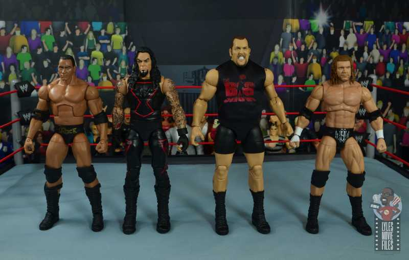 wwe elite 71 the big show figure review - scale with the rock, the undertaker and triple h