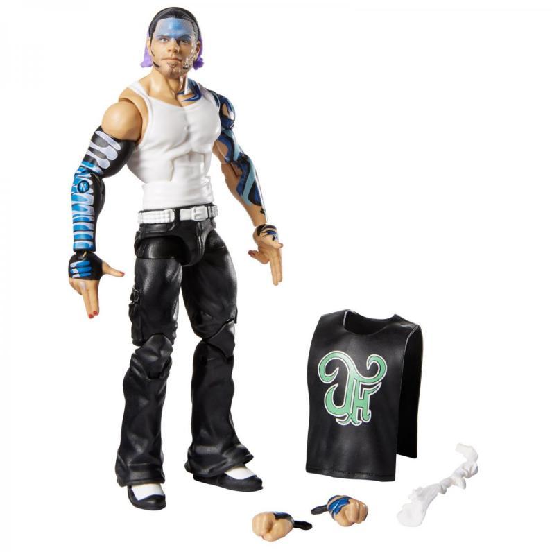 wwe elite 75 - jeff hardy figure -full accessories
