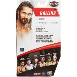 wwe elite 75 - seth rollins figure -package rear