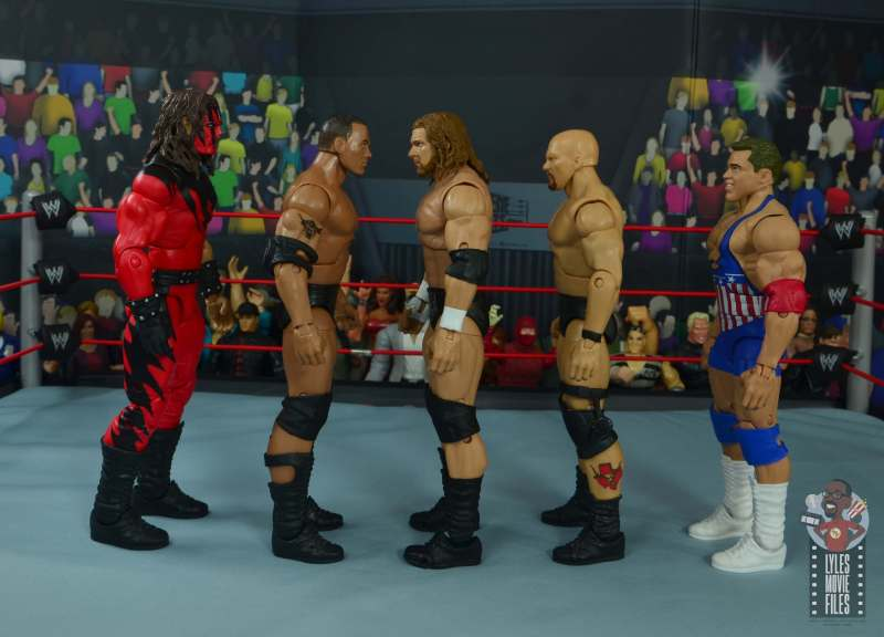 wwe ultimate edition triple h figure review - facing kane, the rock, stone cold and kurt angle