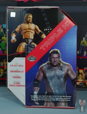 wwe ultimate edition triple h figure review - package rear