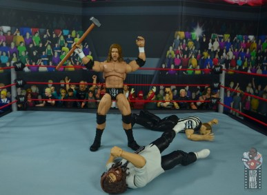 wwe ultimate edition triple h figure review - standing over mankind