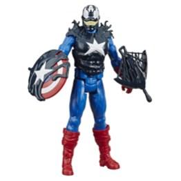 SPIDER-MAN MAX VENOM TITAN HERO BLAST GEAR VENOMIZED CAPTAIN AMERICA Figure - oop (1)