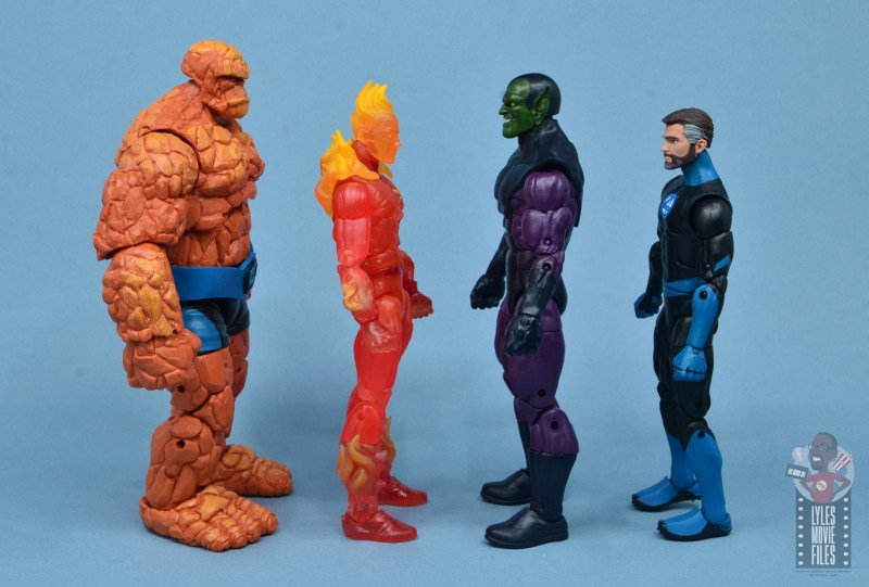 marvel legends build-a-figure super skrull figure review - facing thing, human torch and mister fantastic