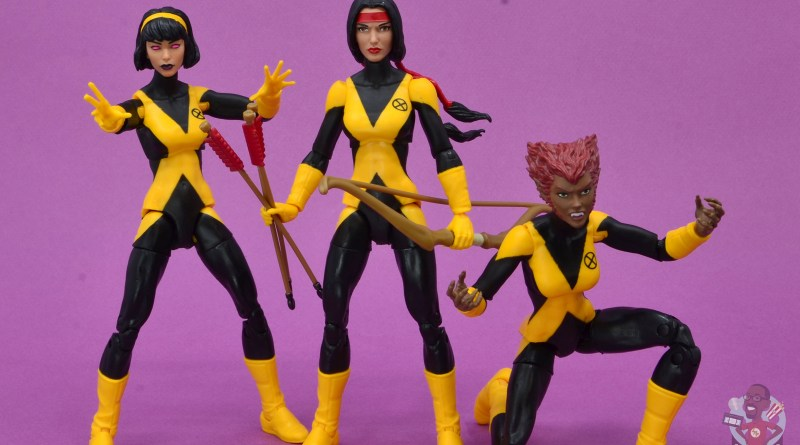 marvel legends dani moonstar figure review - karma, danni and wolfsbane