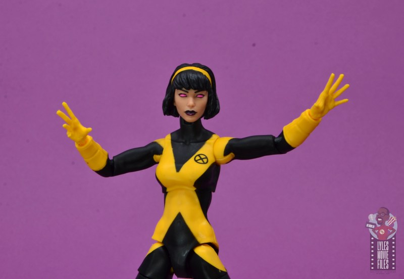 marvel legends dani moonstar figure review - karma hands wide