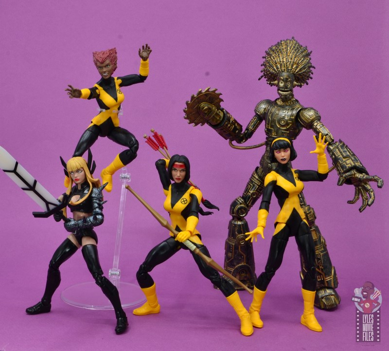 marvel legends dani moonstar figure review - new mutants ready for action