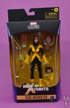 marvel legends dani moonstar figure review - package front