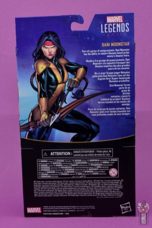 marvel legends dani moonstar figure review - package rear