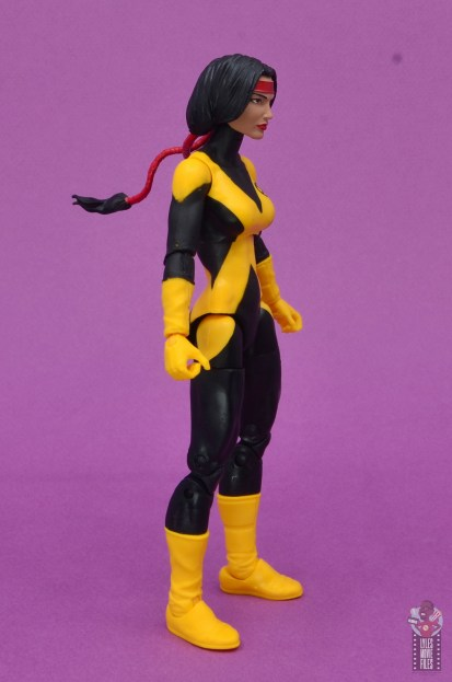 marvel legends dani moonstar figure review - right side