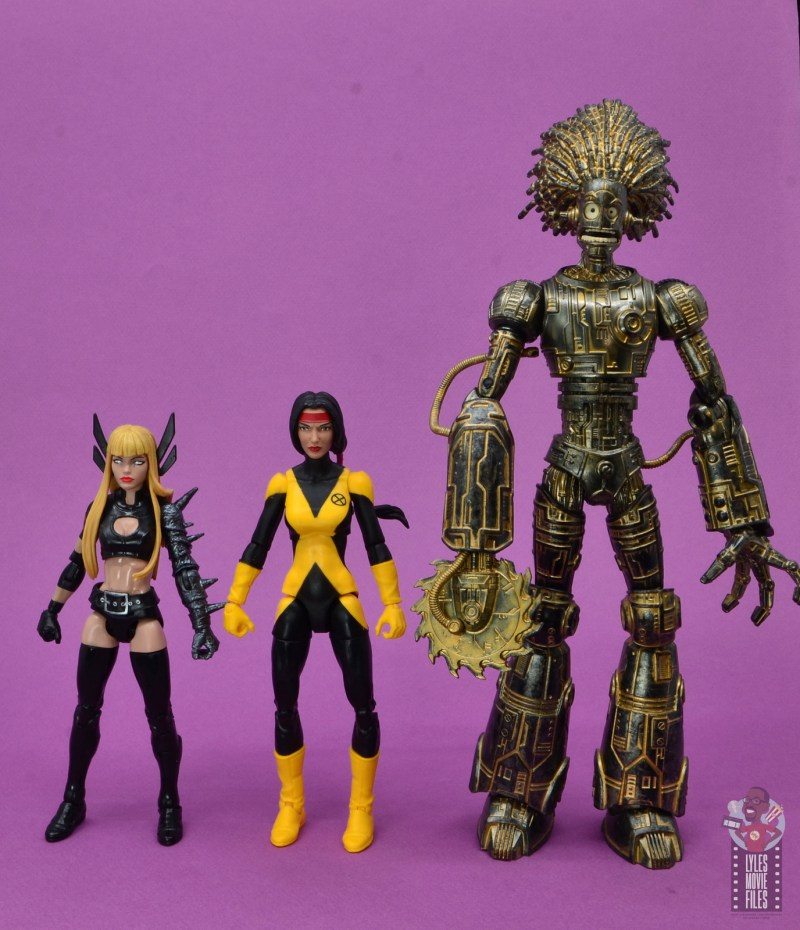 marvel legends dani moonstar figure review - scale with magik and warlock