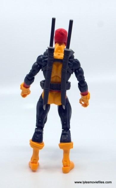 marvel legends deadpool figure review - rear