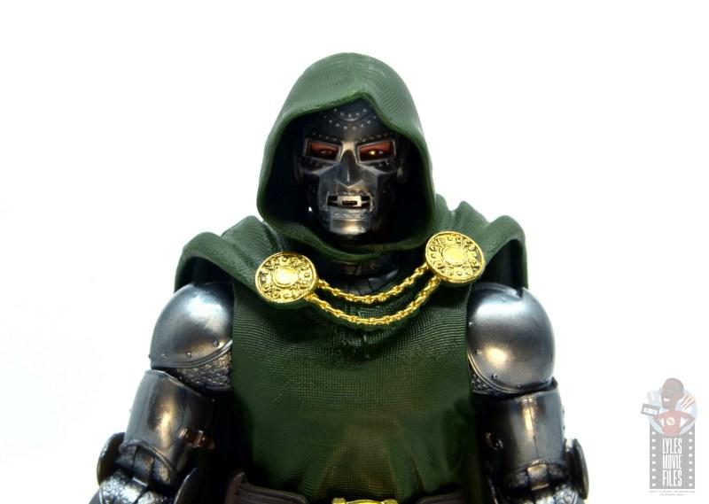 marvel legends doctor doom figure review - classic mask close up