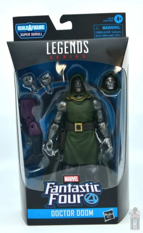 marvel legends doctor doom figure review - package front