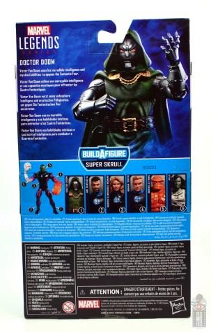 marvel legends doctor doom figure review - package rear