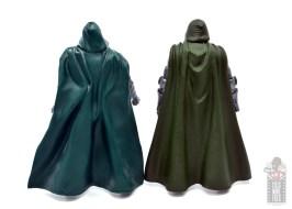 marvel legends doctor doom figure review - rear first hasbro doom figure