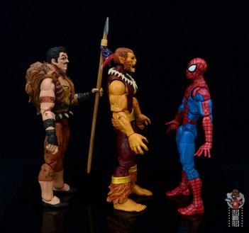 marvel legends puma figure review - facing kraven and spider-man