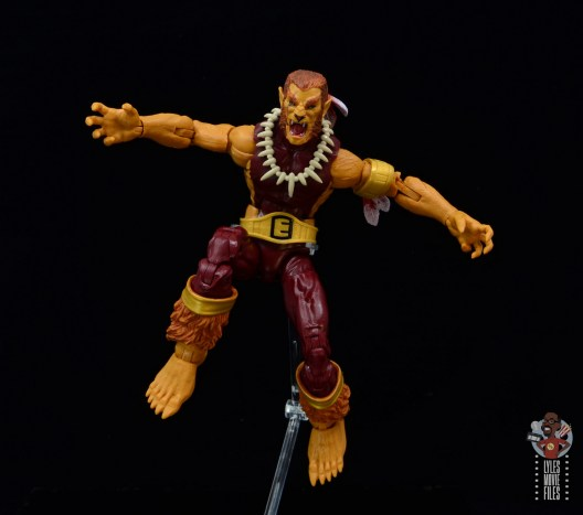 marvel legends puma figure review - leaping