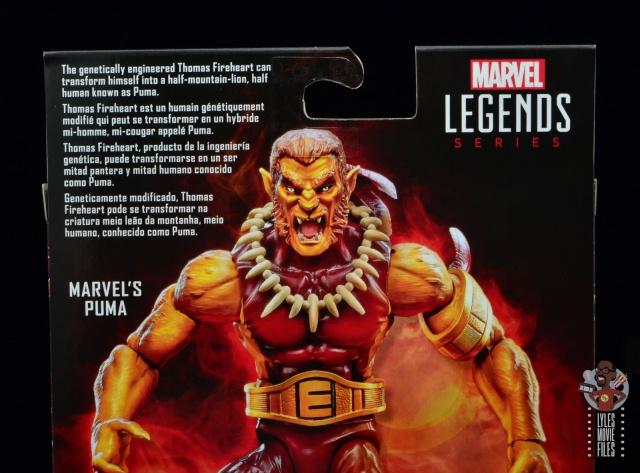 marvel legends puma figure review -package bio