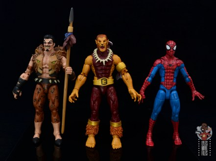 marvel legends puma figure review -scale with kraven and spider-man