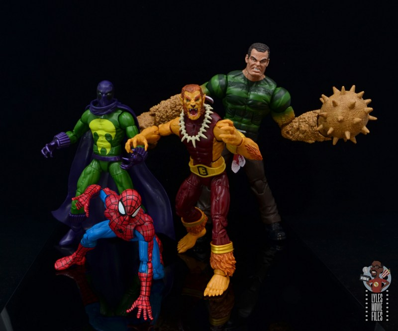 marvel legends puma figure review - with prowler, spider-man and sandman