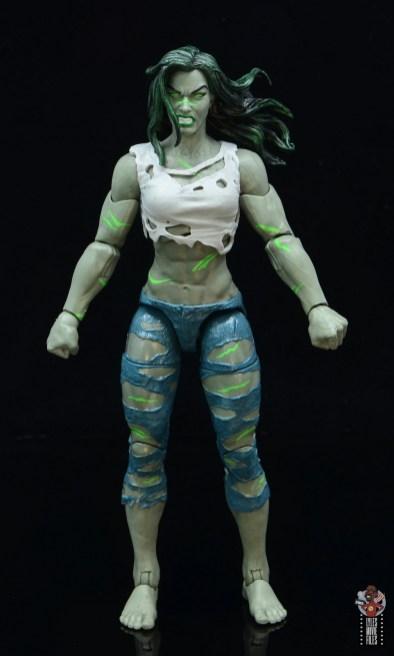 marvel legends she-hulk figure review - front
