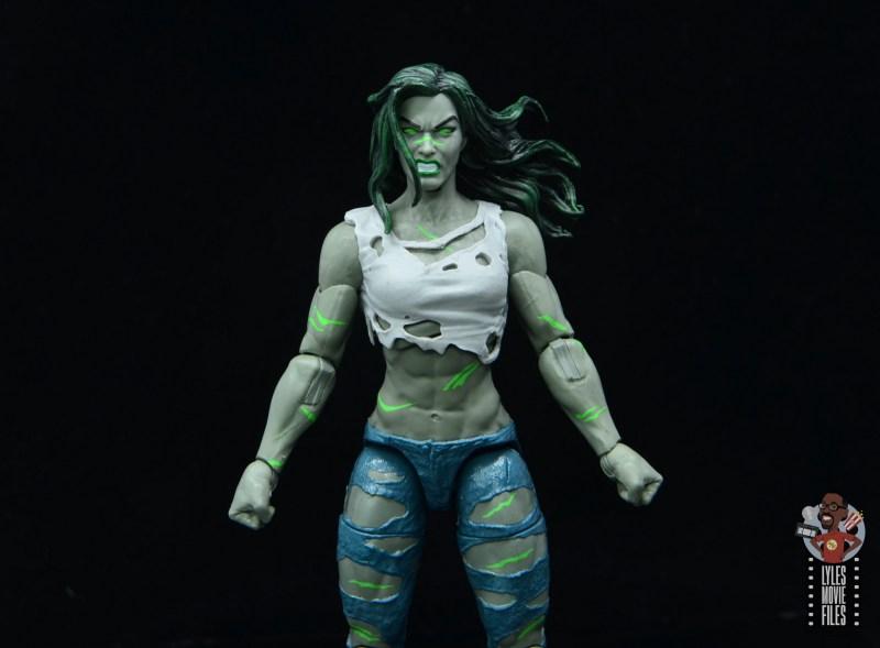 marvel legends she-hulk figure review - wide shot