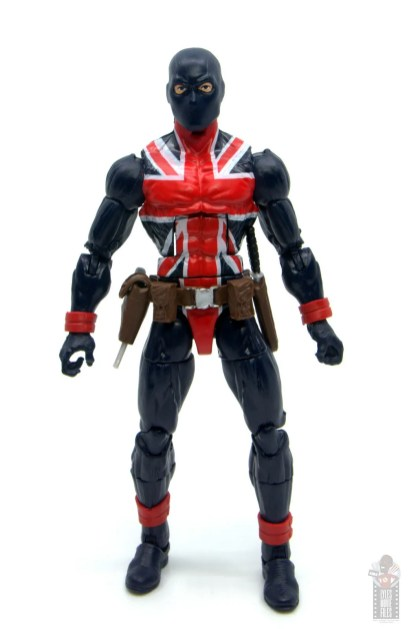 marvel legends union jack figure review - front