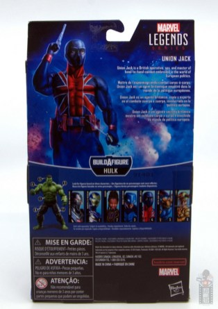 marvel legends union jack figure review - package rear