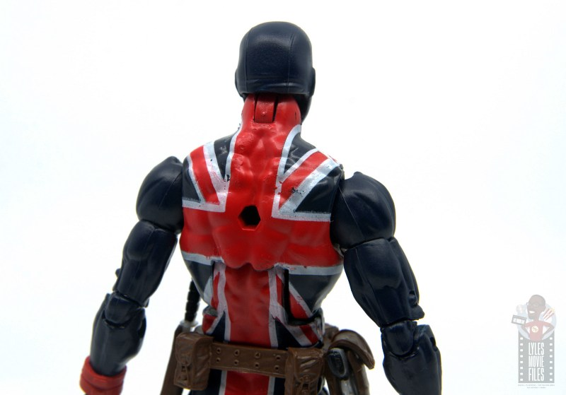 marvel legends union jack figure review - rear paintjob