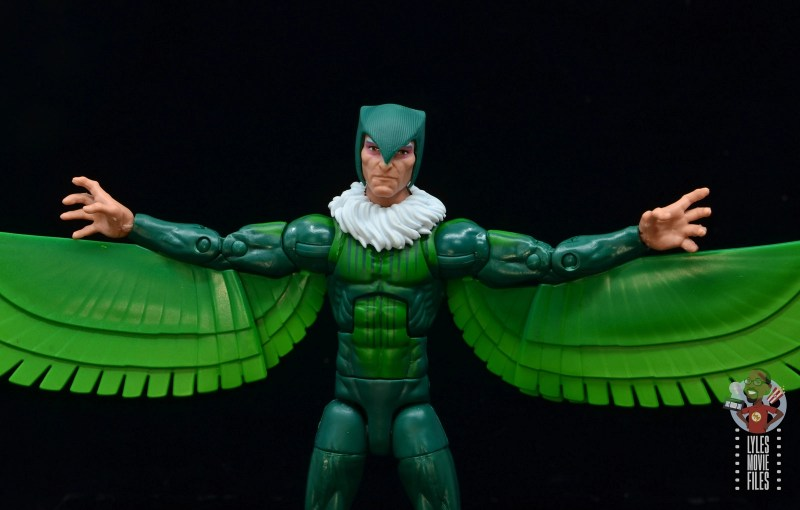 marvel legends vulture figure review - alternate head wings out