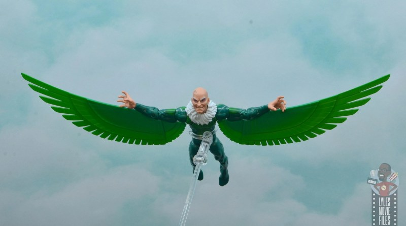 marvel legends vulture figure review - flying