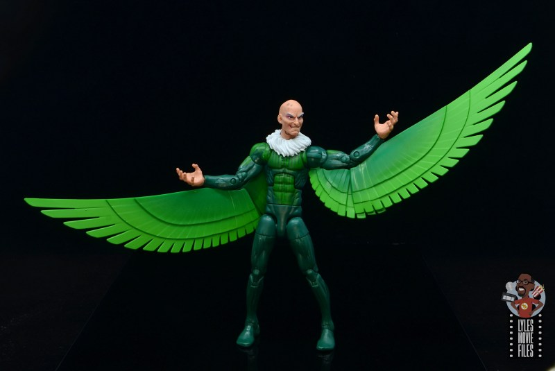 marvel legends vulture figure review - lifting wing