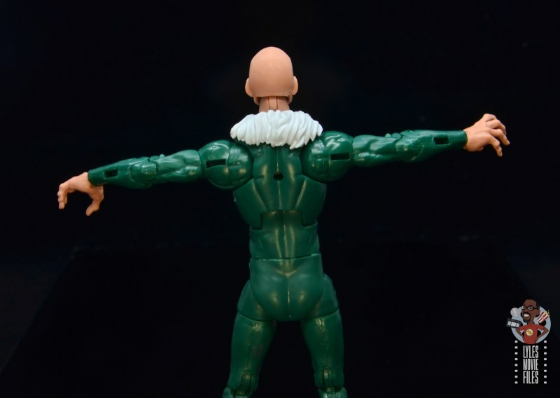 marvel legends vulture figure review - rear with visible wing holes